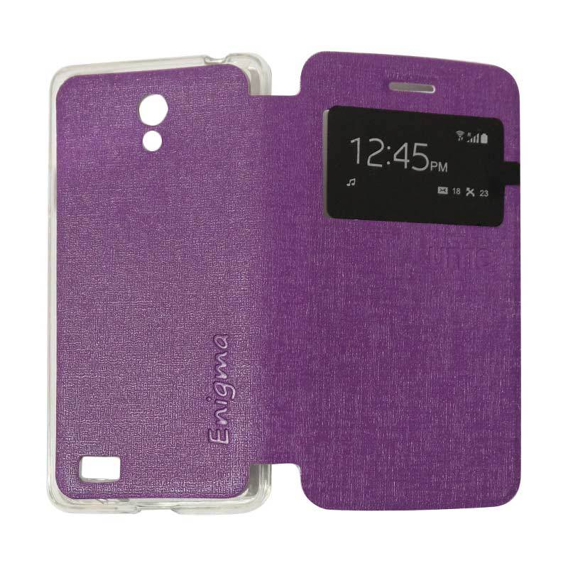 Ume Flipshell Flipcase Flip Cover Casing for OPPO Joy 3 / Joy3 / A11W / A11 - Purple
