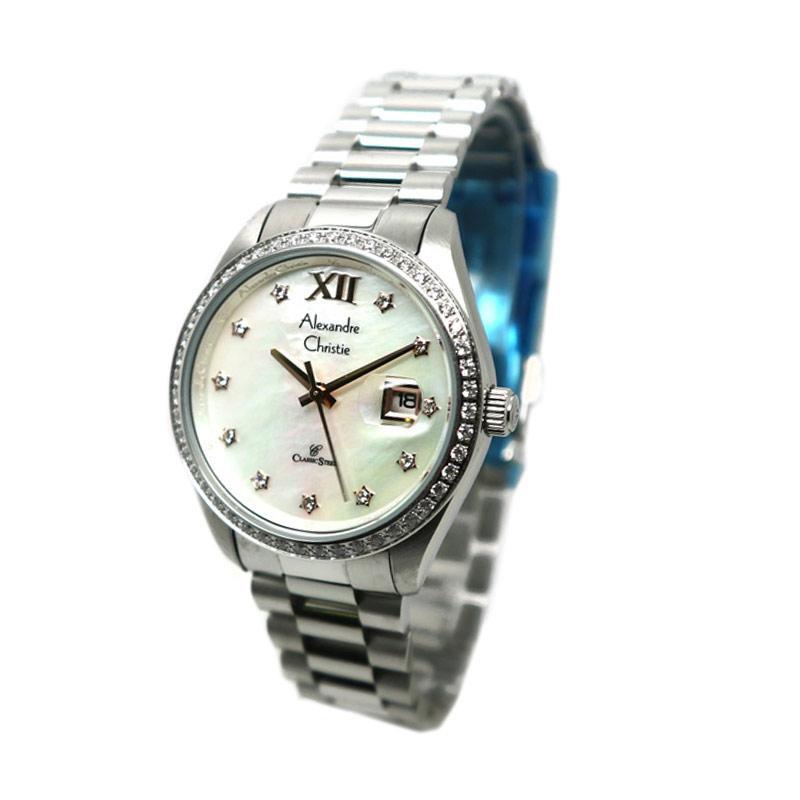 Alexandre Christie 5005 Jam Tangan Wanita - Silver White