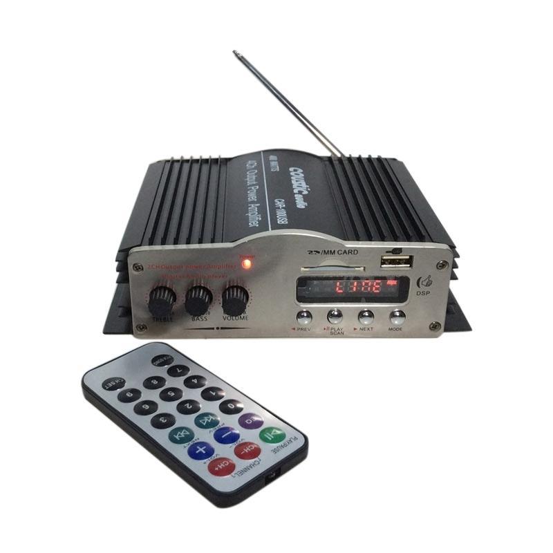 harga Coustic Audio CAR100 USB dan MP3 Power Amplifier Mobil - Hitam Blibli.com