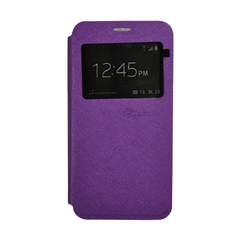 SMILE Standing Cover Casing for Samsung Galaxy J5 Prime - Purple