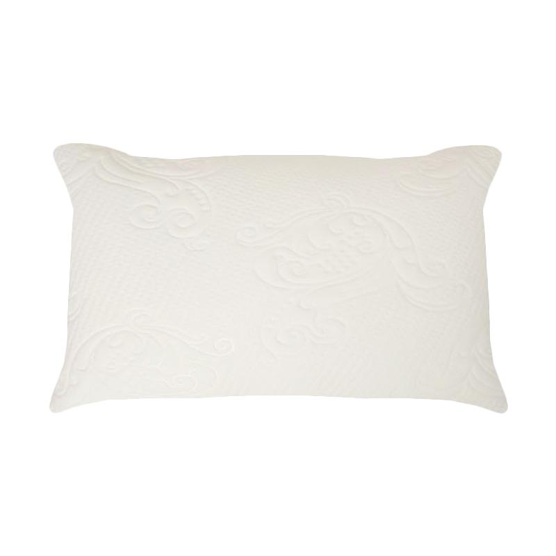 The Luxe Natural Latex Polyester Fiberfill Pillow - White