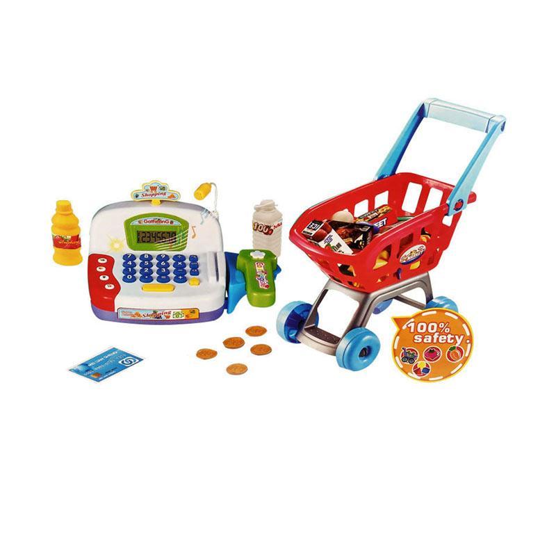 harga Wonderland Trolly Keranjang Belanja Mainan Mesin Kasir Anak Blibli.com