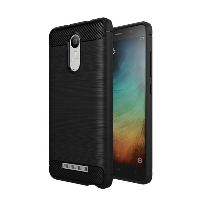 Ipaky Slim Rugged Casing for Xiaomi Redmi Note 3 or 3Pro - Black Carbon