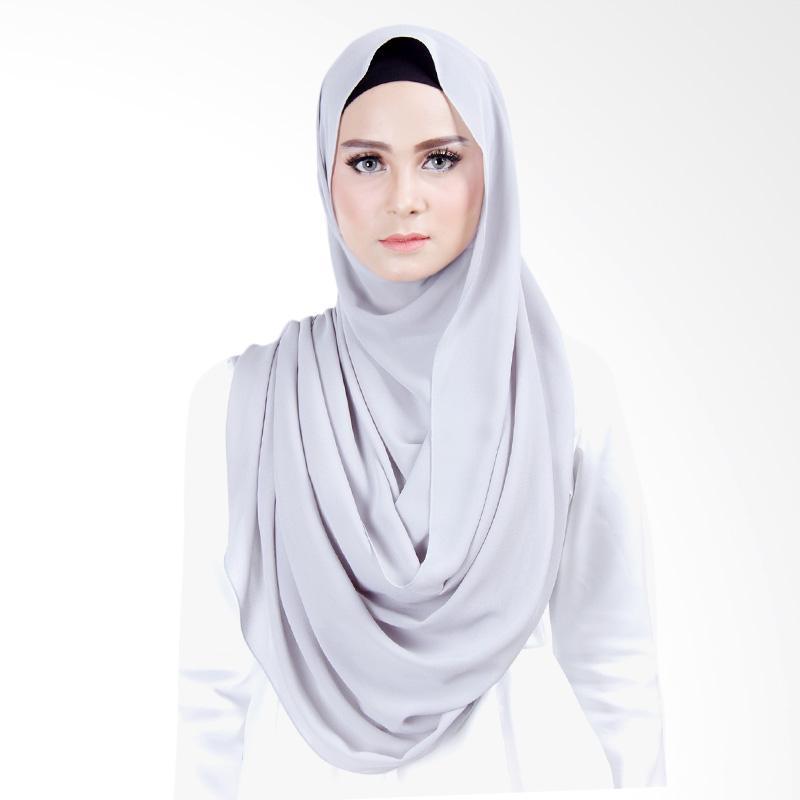 Cantik Kerudung Scarlett Instant Shawl - Light Grey