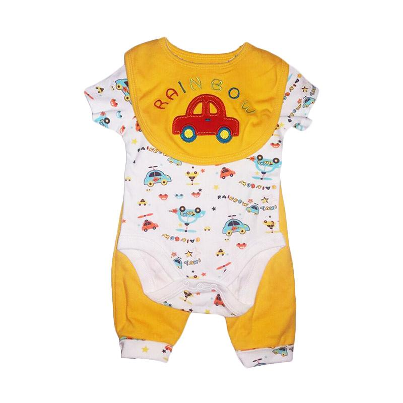 Chloebaby Shop F937 Carter's Rainbow Car Jumper 3in1 - Yellow