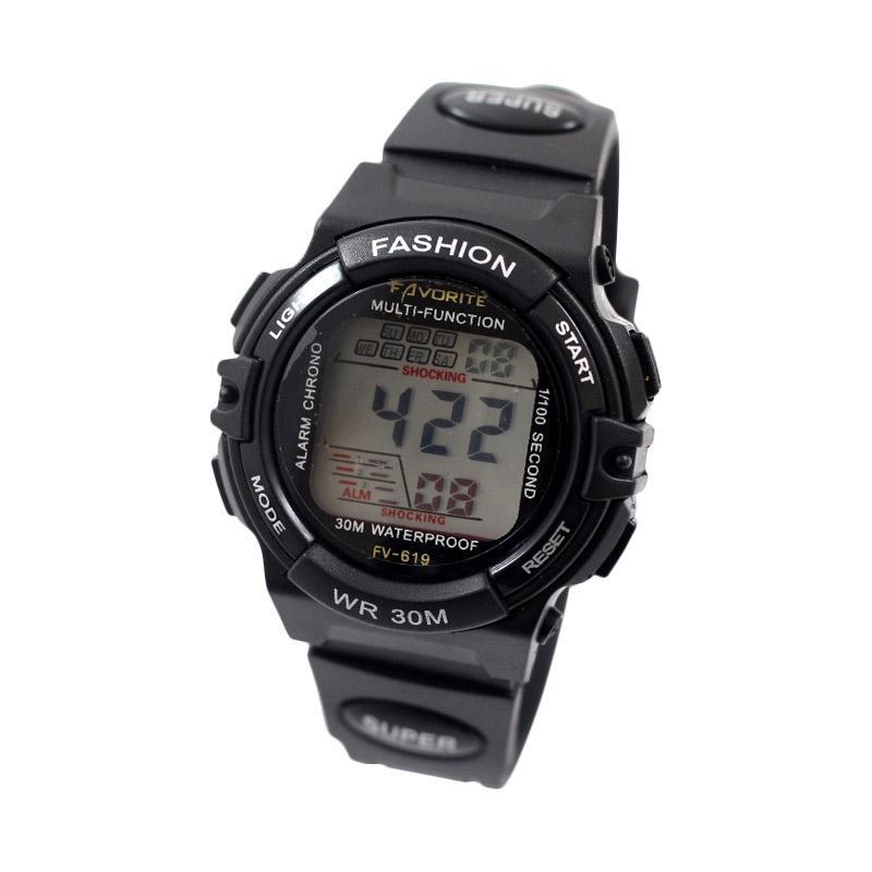 Fastime FV-619 Jam Tangan Digital Unisex / Arloji Unisex - Black