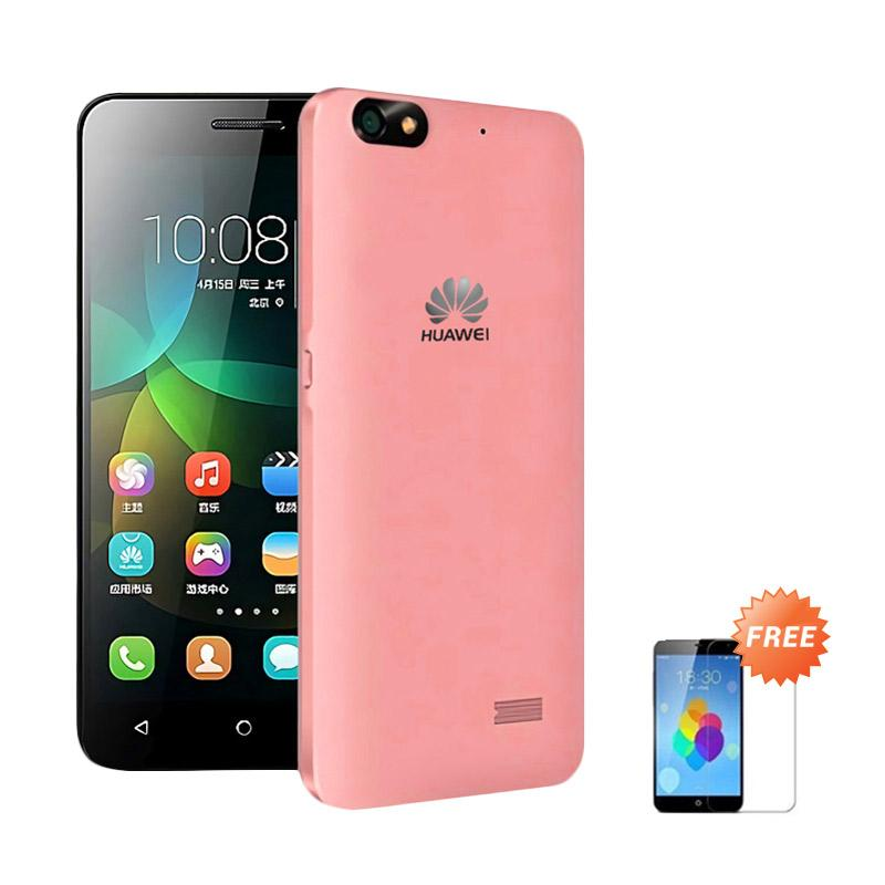 Ultrathin Casing for Huawei Honor 4c - Red Clear + Free Tempered Glass
