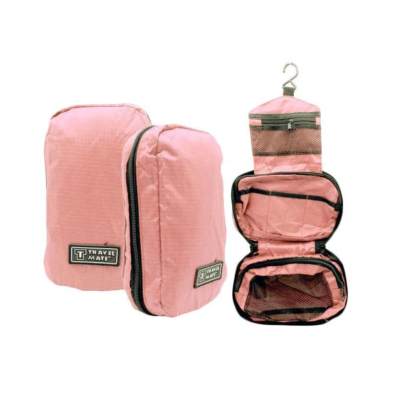 harga BestChoice Travel Mate Toiletries Bag Tas Kosmetik Toilet - Pink Salem Blibli.com