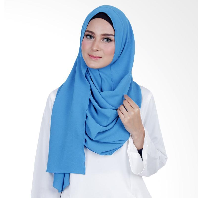Cantik Kerudung Sheefa Long Nadine Plain - Dark Blue Tosca