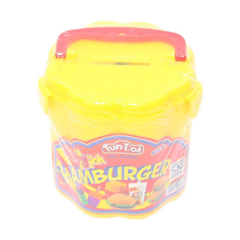 Istana Kado Hamburger Celengan Fun Doh Mainan Lilin