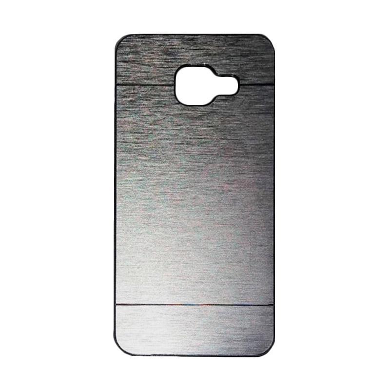 Motomo Metal Hardcase Casing for Samsung Galaxy A310 or A3 2016 - Silver