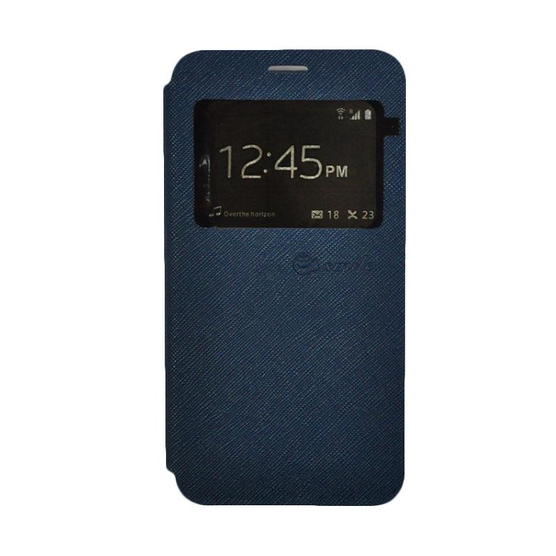 SMILE Standing Cover Casing for Samsung Galaxy J2 Prime - Dark Blue