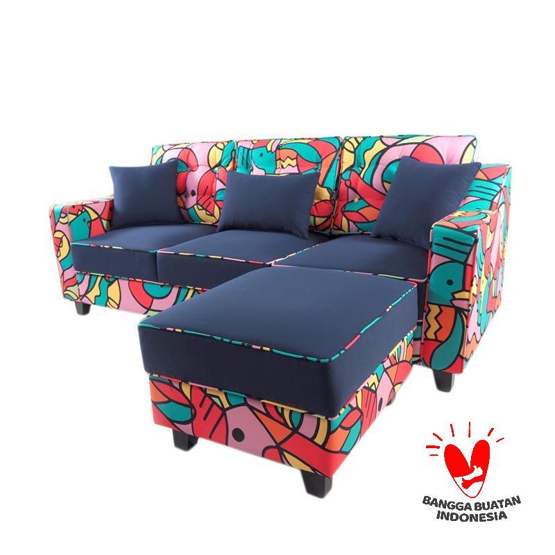 Antik Mebel X Mahendra Nazar  Mr. Boldman Sofa L - Multiple Color