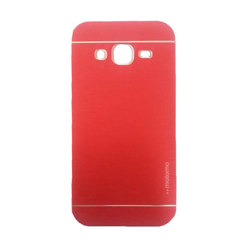 Motomo Metal Hardcase Backcase Casing for Samsung Galaxy J2 J200F - Red