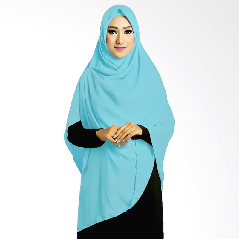 Ruman Hijab Square Jilbab Kerudung Segi Empat TL - Biru Langit