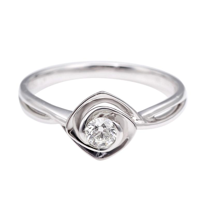 Tiaria DJXJZ001 Diamond Ring Emas Putih [18 K]