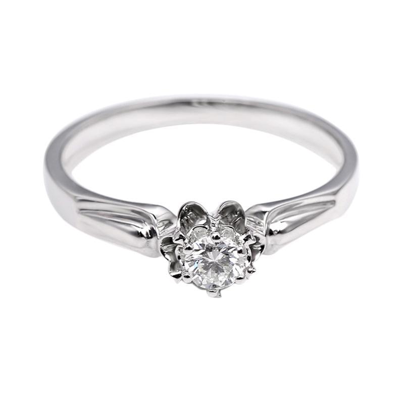 Tiaria DJXJZ021 Perhiasan Emas Putih dan Berlian White Gold Cincin [18K]