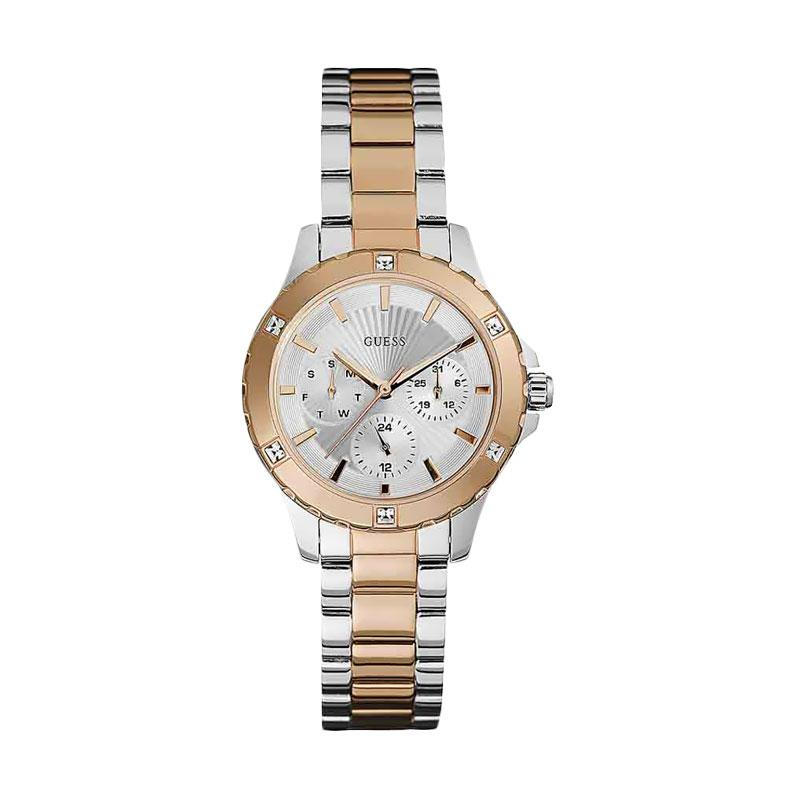 GUESS W0443L4 Viva Chronograph Jam Tangan Wanita - Rose Gold Silver