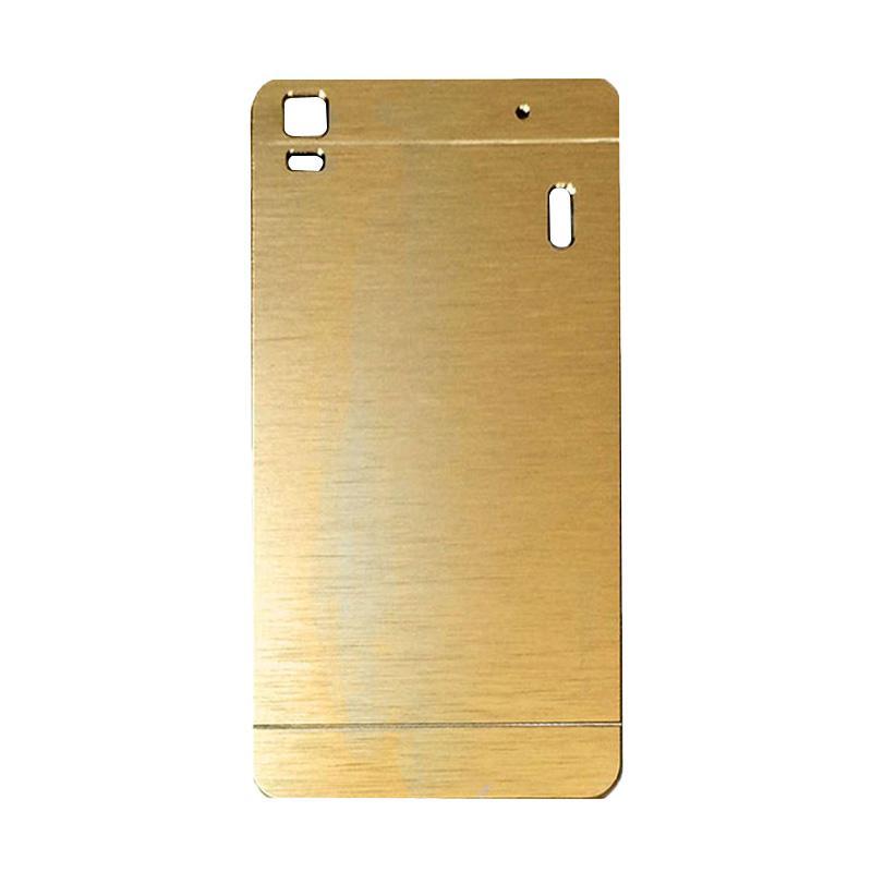 Motomo Metal Hardcase Backcase Casing for Lenovo A7000 or K3 Note - Gold