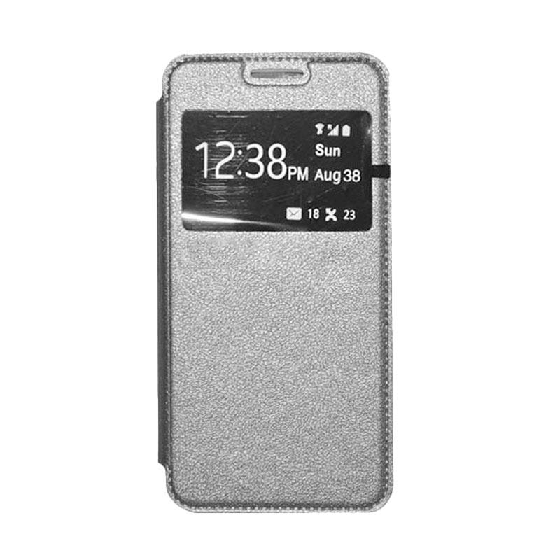 OEM Leather Book Cover Casing for Samsung Galaxy V or V Plus - Grey