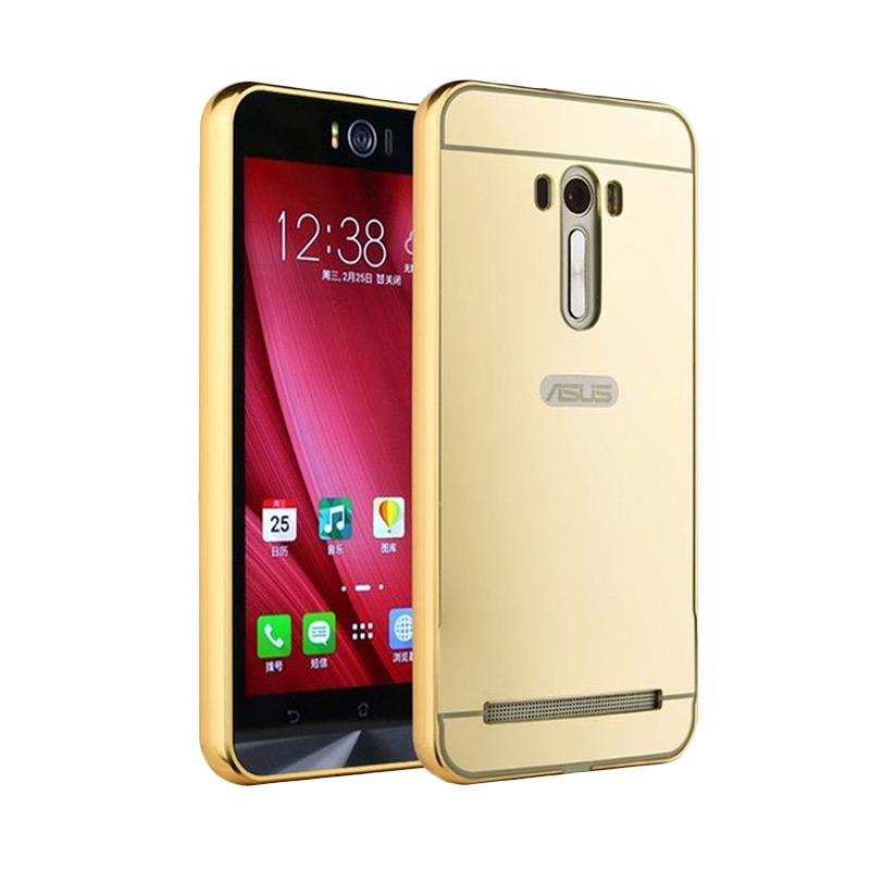 Bumper Mirror Sliding Casing for Asus Zenfone Selfie - Gold