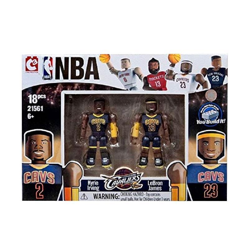 C3 NBA Cleveland Cavaliers Irving & James Lego Style Mainan Blok & Puzzle