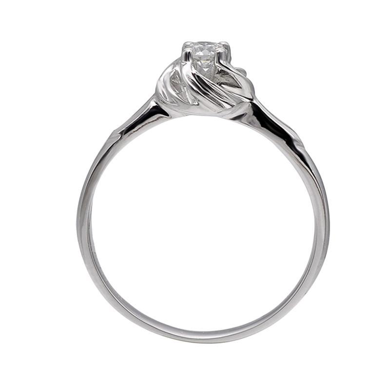 Tiaria DJXJZ023 Perhiasan Emas Putih dan Berlian White Gold Cincin [18K]