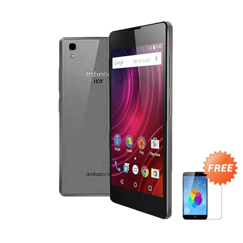 Ultrathin Casing for Infinix Hot 2 - Grey + Free Tempered Glass Screen Protector