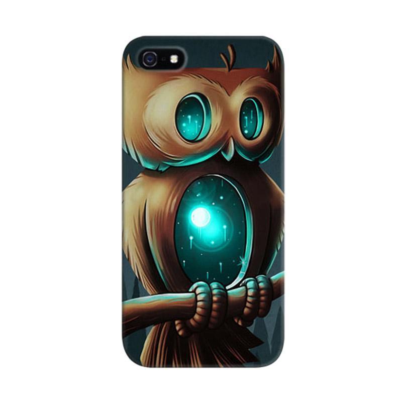 Indocustomcase Owl Night Birds Custom Hardcase Casing for Apple iPhone 5/ 5S/ SE