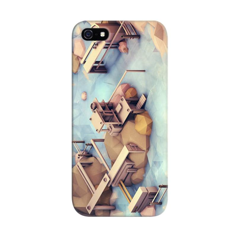 Indocustomcase PortHarbor Day Custom Hardcase Casing for Apple iPhone 5/5S/SE