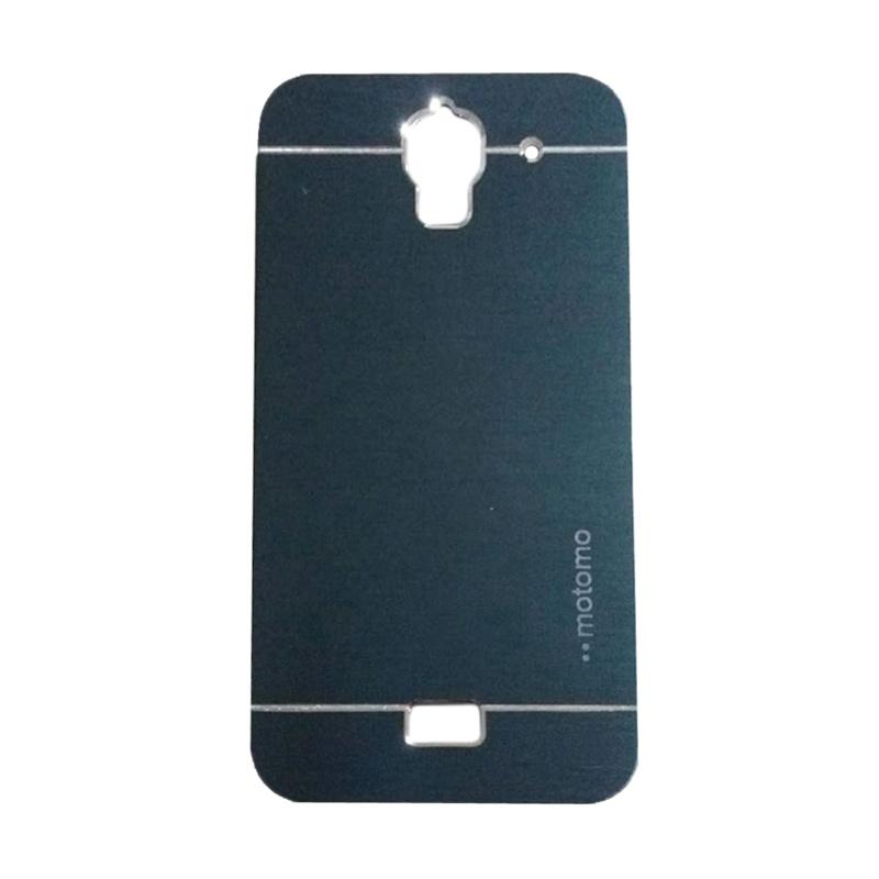 Motomo Metal Hardcase Backcase Casing for Huawei Y3/Y3C/Y360 - Dark Blue