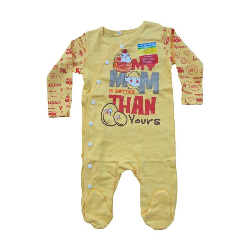 Piteku My Mom Jumpsuit Tutup Kaki Baju Tidur Anak - Yellow