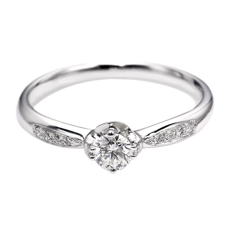Tiaria DJXJZ003 Diamond Ring Emas Putih [18 K]