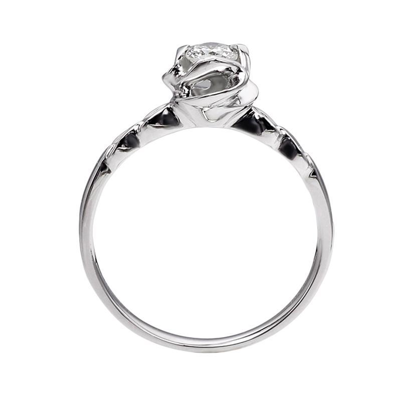 Tiaria DJXJZ024 Perhiasan Emas Putih dan Berlian White Gold Cincin [18K]