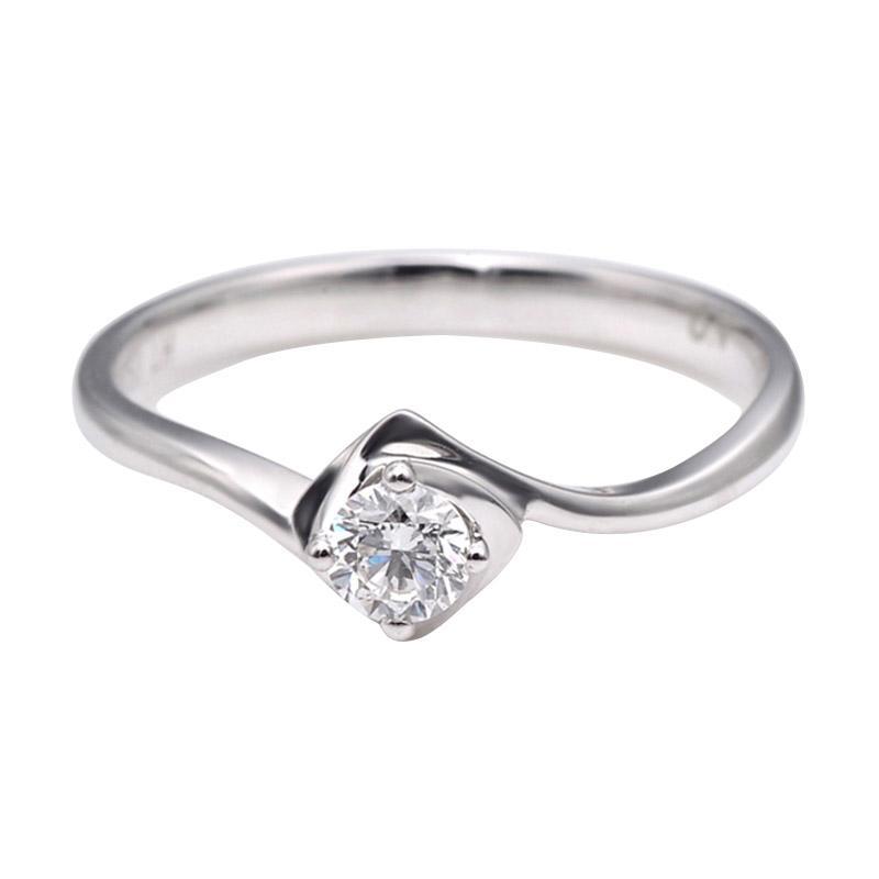 Tiaria DJXJZ033 Perhiasan Emas Putih dan Berlian White Gold Cincin [18K]
