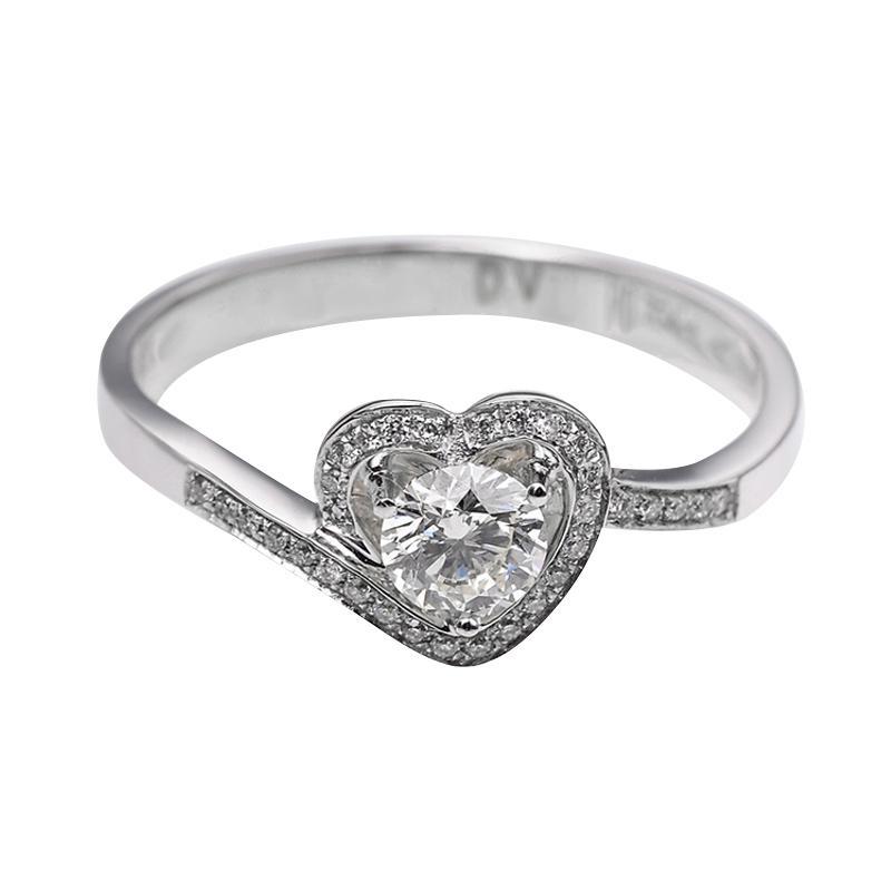 Tiaria DJXJZ060 Perhiasan Cincin Emas Putih Berlian White Gold [18K]