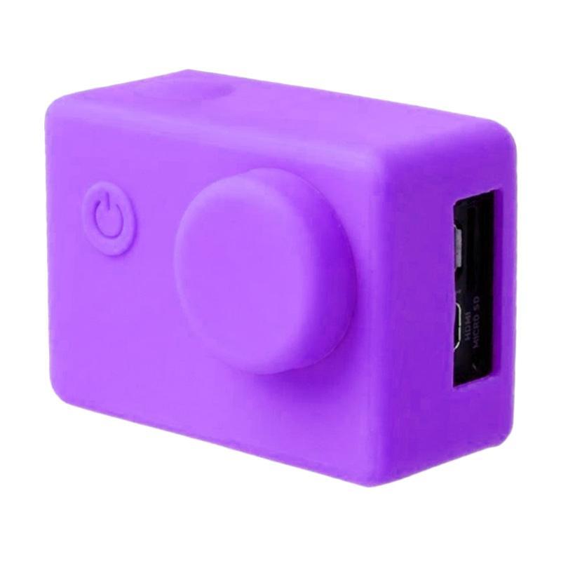 Brica B-PRO Alpha Edition AE Action Camera Silicone Case and Lens Cap - Ungu