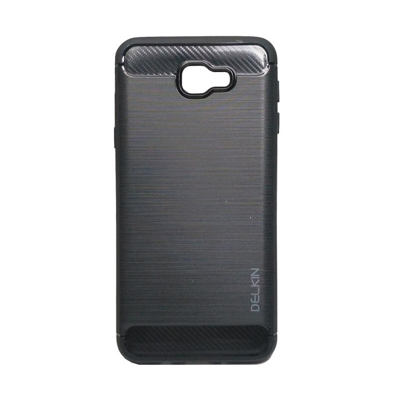 Delkin Slim Carbon Armor Casing for Samsung Galaxy J7 Prime or On7 2016 - Hitam