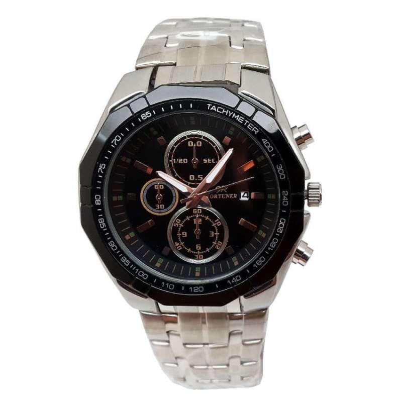 Fortuner FR S3007 B Jam Tangan Pria - Silver Hitam