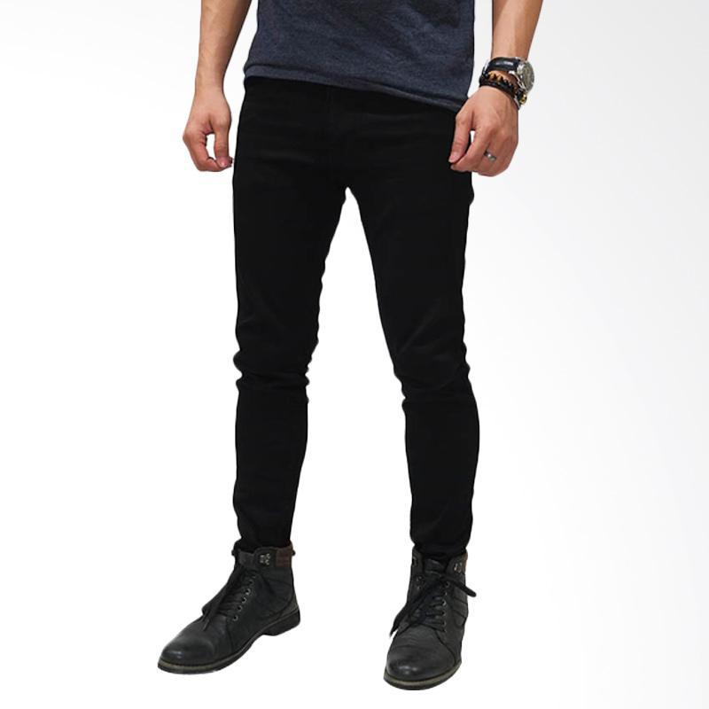 Jual Frozenshop Com Skinny Celana Jeans Pria Hitam Polos Online