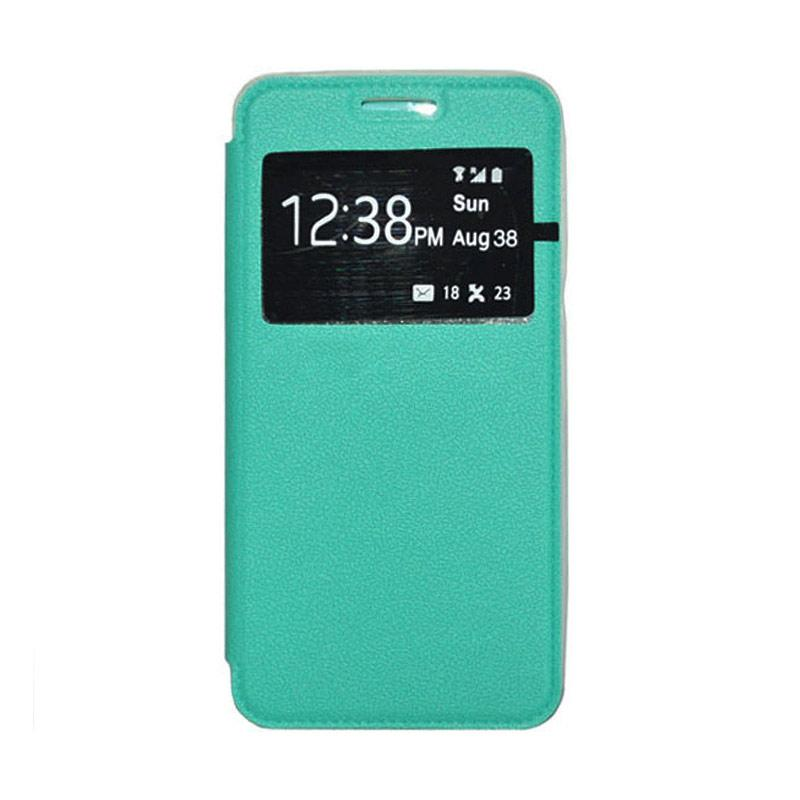 OEM Leather Book Cover Casing for Samsung Galaxy V or V Plus - Green