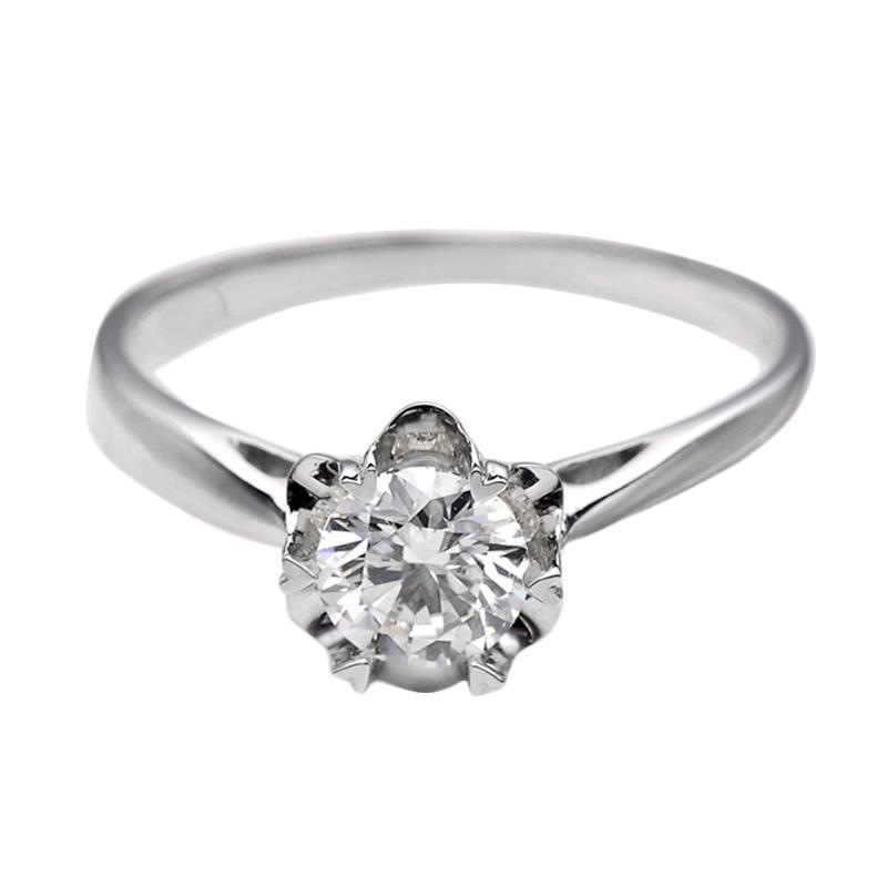 Tiaria DJXJZ005 Berlian White Gold Cincin Emas Putih [18K]
