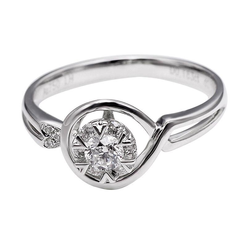 Tiaria DJXJZ034 Perhiasan Emas Putih dan Berlian White Gold Cincin [18K]