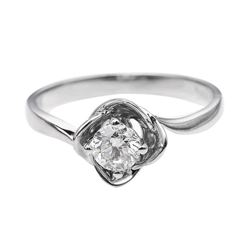 Tiaria DJXJZ061 Perhiasan Cincin Emas Putih Berlian White Gold [18K]