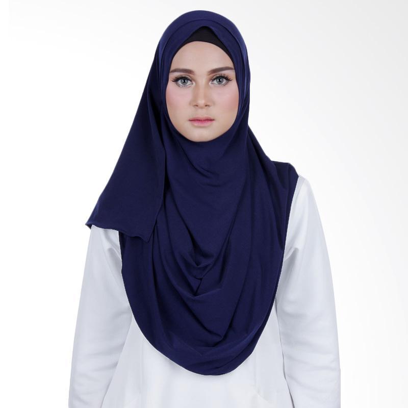 Cantik Kerudung Sheefa 2 Face Lycra Hijab Instan - Navy Blue