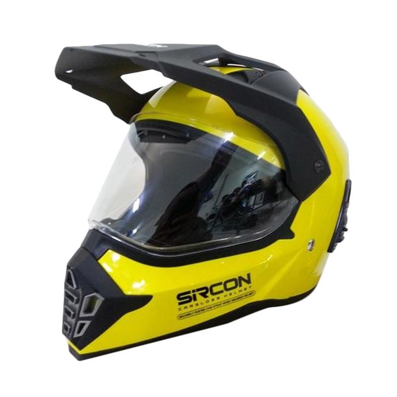 Cargloss Sircon Supermoto Mutan FZ Yellow Helm Full Face