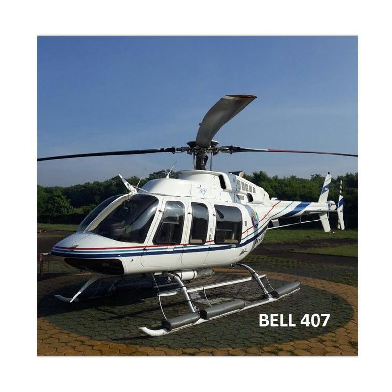 Equatoravia Sewa Helikopter Pribadi Tipe Bell 407 E-Voucher