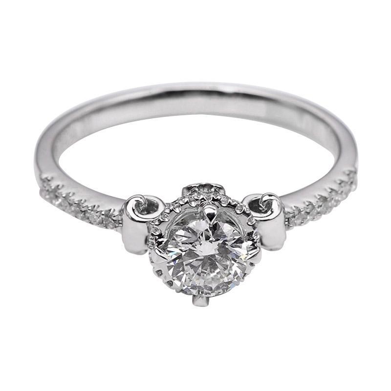 Tiaria DJXJZ036 Perhiasan Emas Putih dan Berlian White Gold Cincin [18K]
