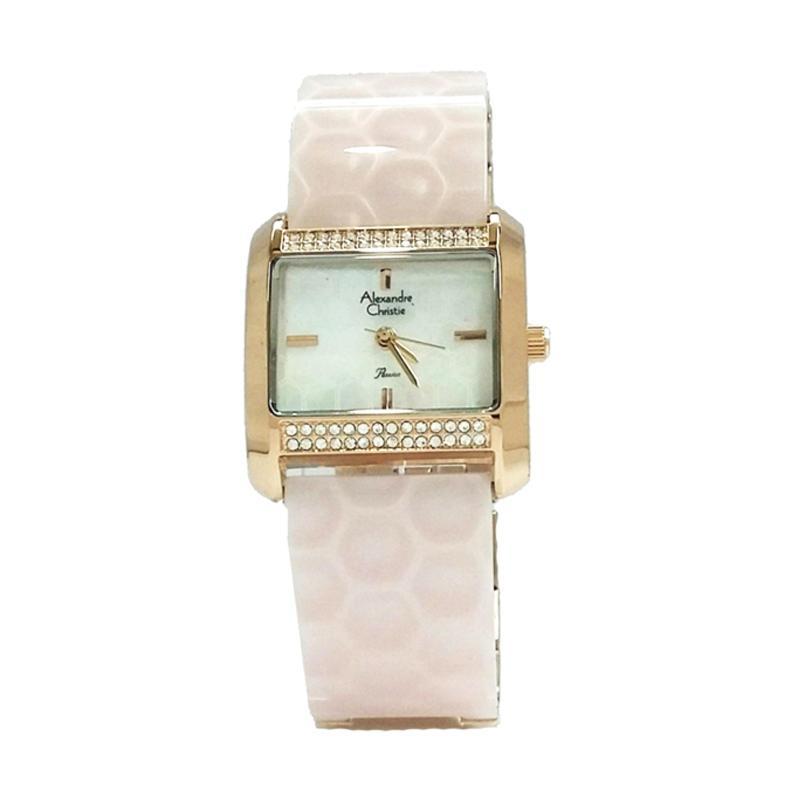 Alexandre Christie 2591 Jam Tangan Wanita - Rosegold Pink