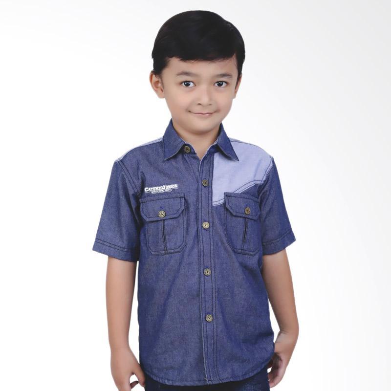 Catenzo Junior Deven CMT 033 Kemeja Denim Anak Laki-laki - Blue